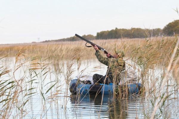 охота на утку с лодки