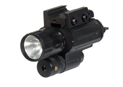 Тактический подствольный ксеноновый фонарь с лазерным целеуказателем LEAPER