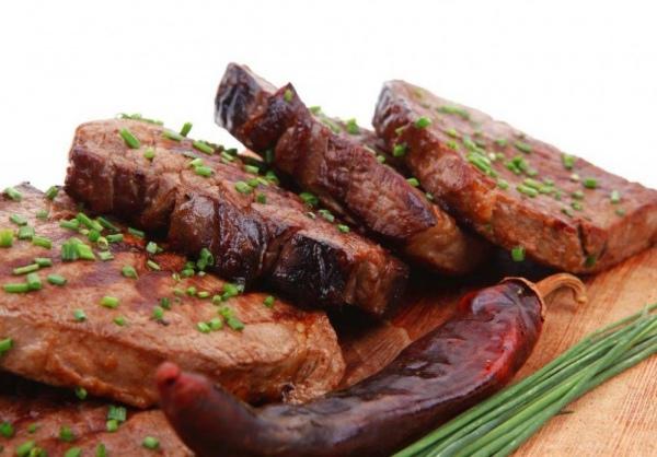 запеченное мясо лося